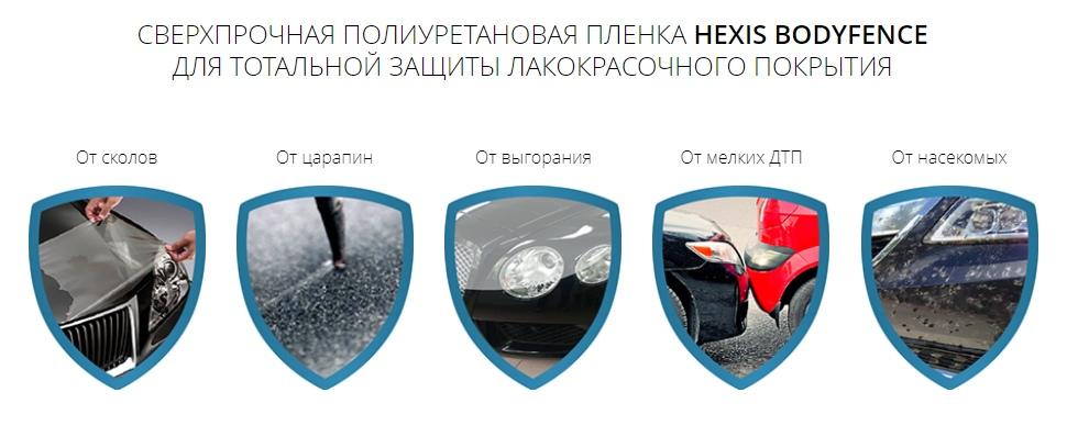 Hexis защитная плёнка на авто