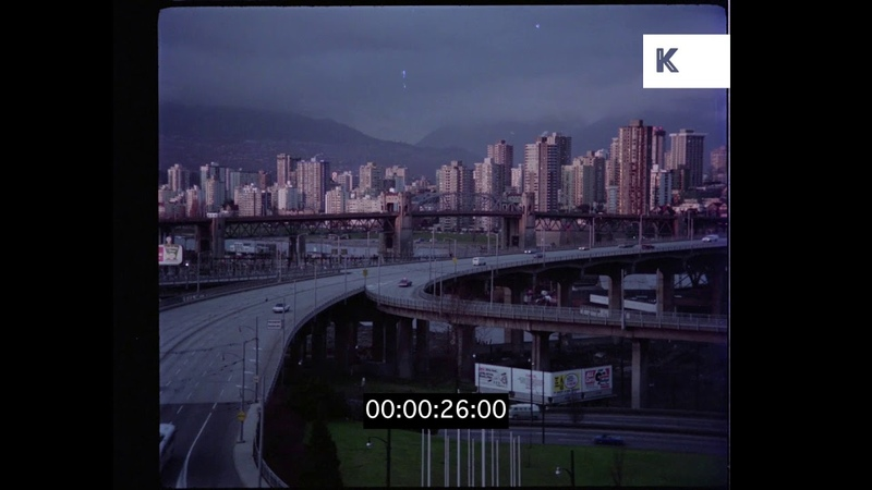 Vancouver Skyline, 1970s Canada from 35mm