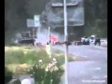 Украина Нацгвардия расстреливает машину на блок посту у Краснянки 22 05 2014