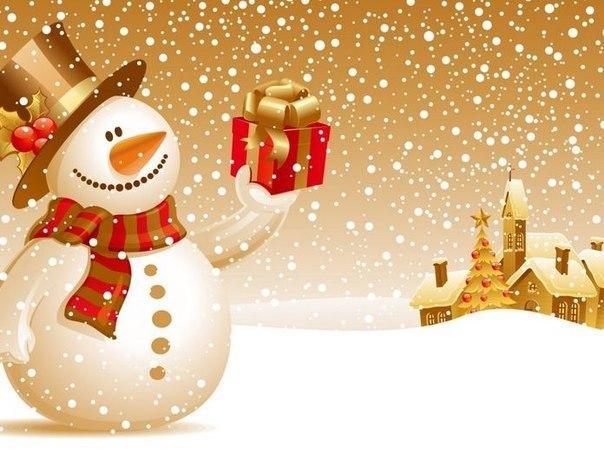 Сніговик на картинці