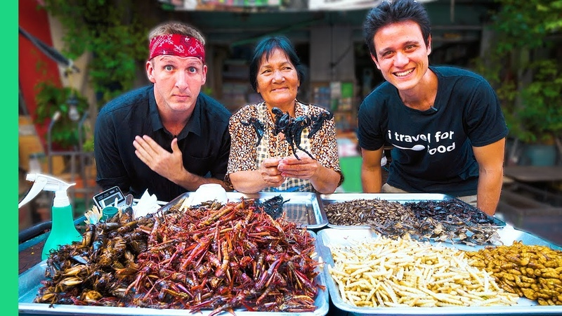 Exotic THAI FOOD Tour in Bangkok with Mark Wiens! Freaky Thai Food Yummy Face Challenge