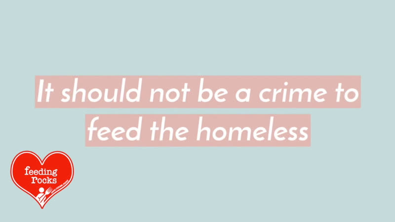 Stop making it illegal to feed the homeless