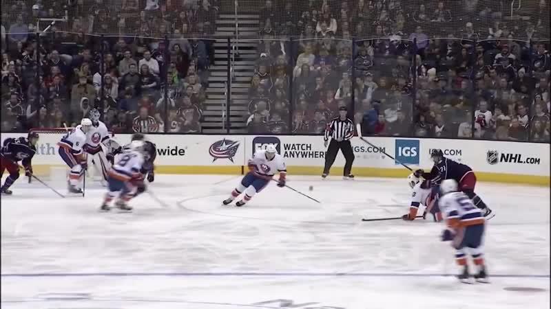 New York Islanders vs Columbus Blue Jackets - Feb 14, 2019 - Game Highlights - NHL 2018-19 - НХЛ