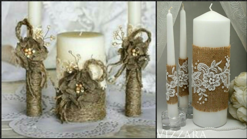 Jute Craft Candle Decoration Candle Holder Decoration Idea's
