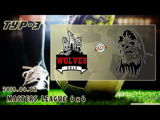 Wolves v/s чубакка (3 тур). football masters league 6x6. full hd. 2019.06.02