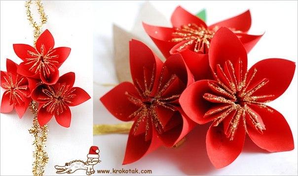 Цветок из крепированной бумаги своими руками