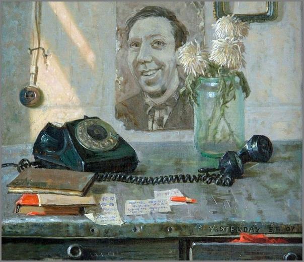Картина «Старый телефон», 1990 год.
