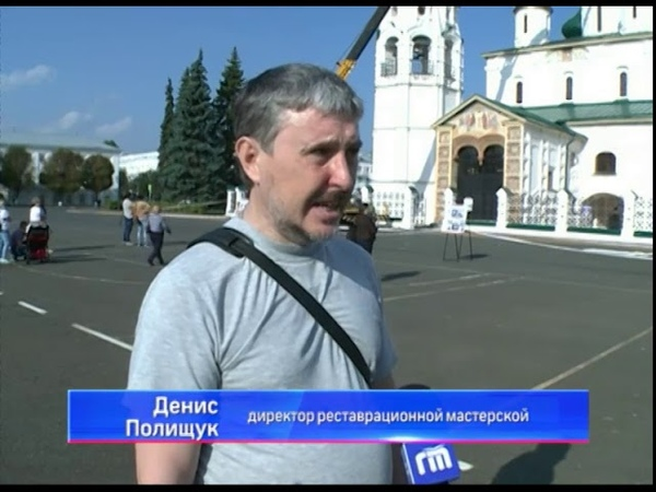 Сотни туристов наблюдали демонтаж крестов на храме Ильи Пророка в Ярославле