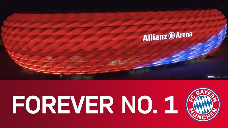 FC Bayern Forever No 1 Spectacular drone views of the Allianz Arena Music Video