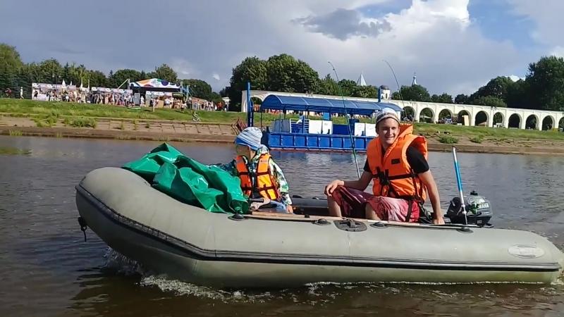 Новгород - Кириши, сплав по Волхову 08.2018