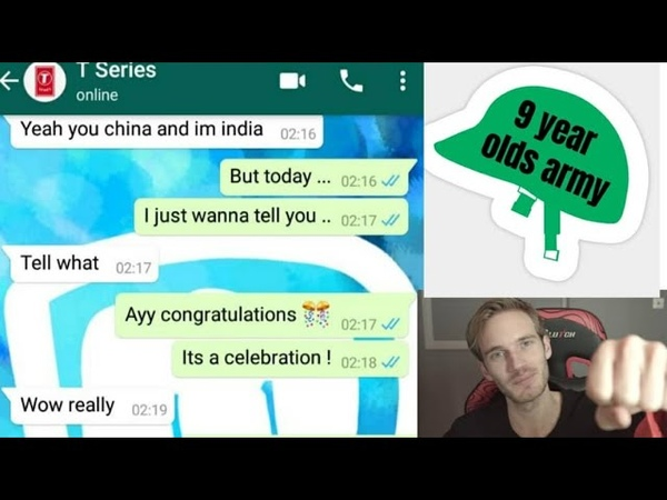 Congratulations But its played on chat | ft T series and 9 Year old Army