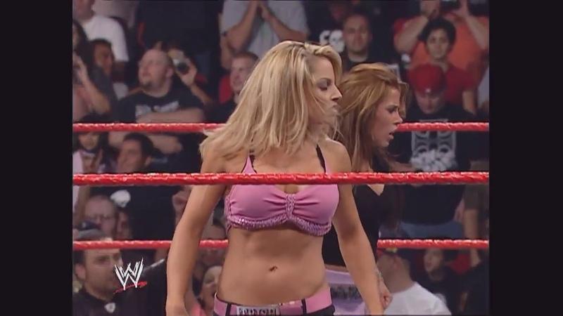 Trish Stratus, Torrie Wilson, Candice, Ashley, Mickie James Victoria Segment: Raw, Oct. 24, 2005