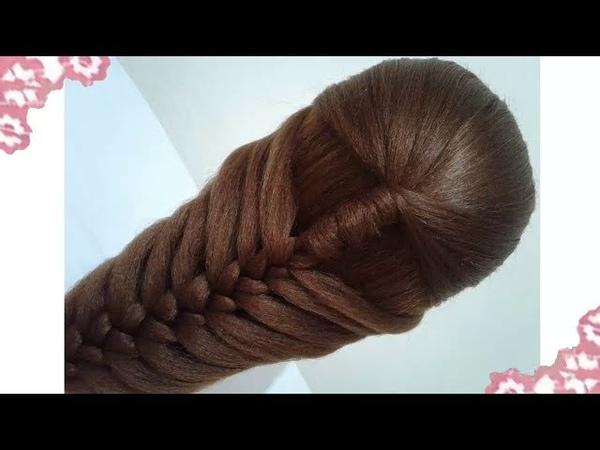Peinados recogidos faciles para cabello largo bonitos y rapidos con trenzas para niña y fiestas7274
