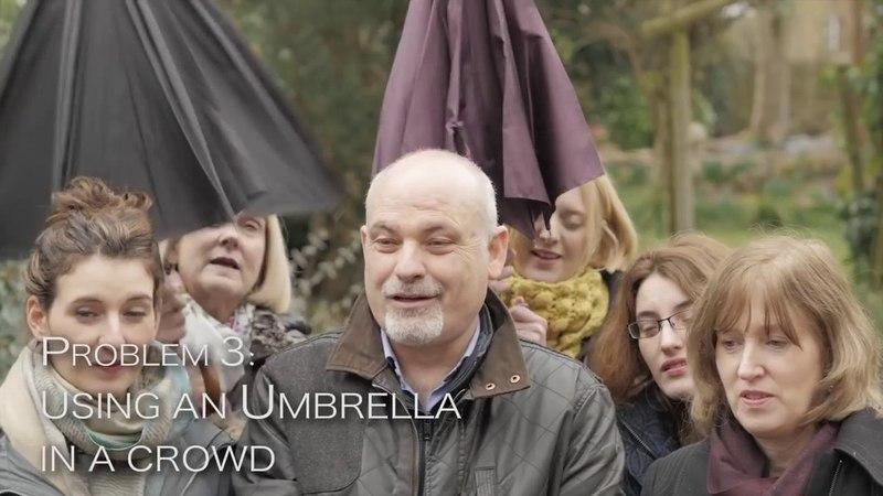 Двухслойный обратный зонт