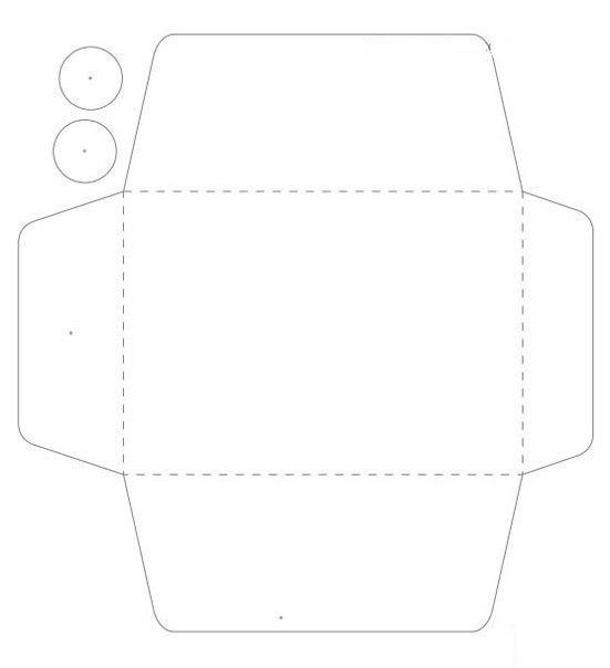схема - конверт с пуговичками