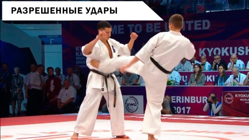 Разрешенные удары Киокушинкай каратэ   Galinx
