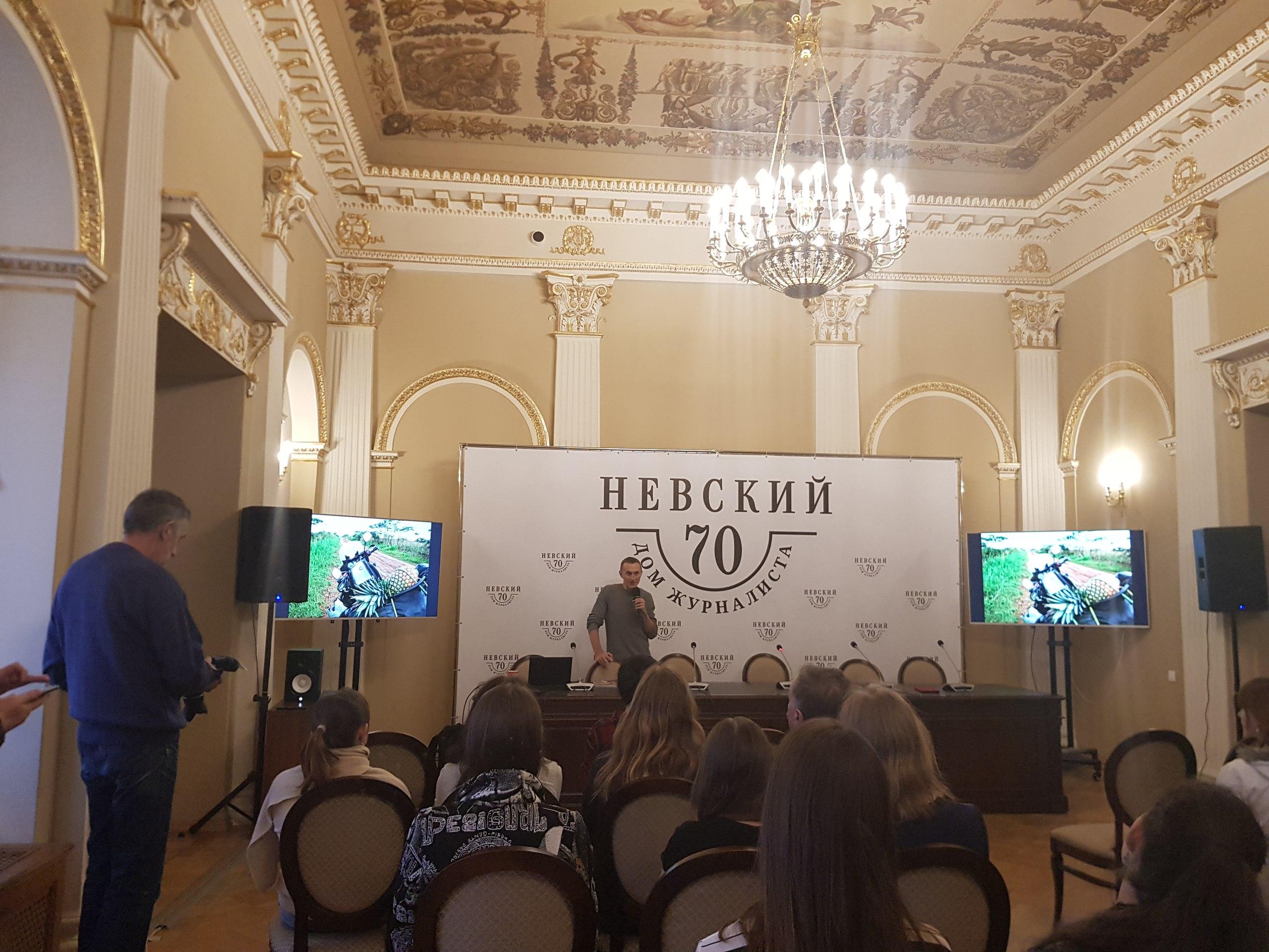В гостях в Доме журналистов на лекции Григория Кубатьяна