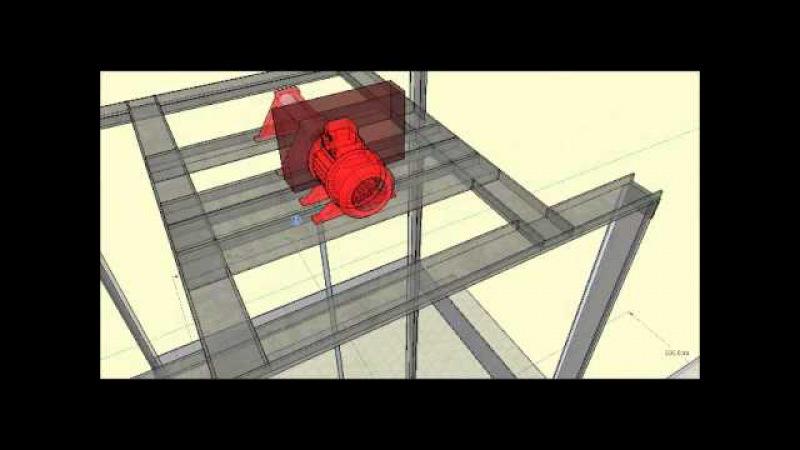 Projeto de Elevador de carga apresentado -Técnico em Eletromecânica 2010 - SENAI