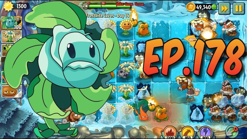 Plants vs Zombies 2 Hurrikale in the ice level Frostbite Caves Day 14 Ep 178
