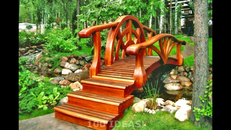 🔴 Ideas for garden and backyard. Bridges in landscape design. Part 1