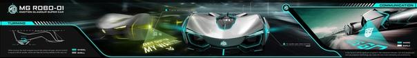Проект Dennis Cheng MG ROBO-01 Автор: Dennis Cheng, выпускник Китайской Академии Искусств. Проект был разработан для участия в конкурсе SAIC Car design challenge 2016.MG ROBO-01 - это концепт