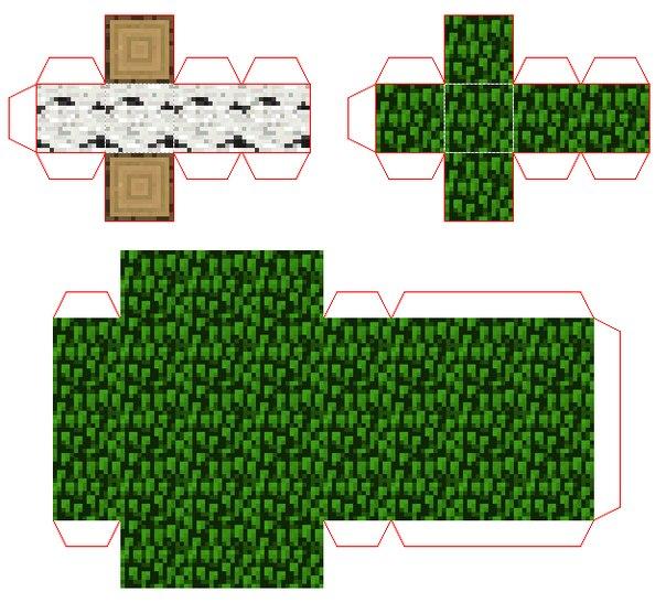 картинки майнкрафт из бумаги схемы