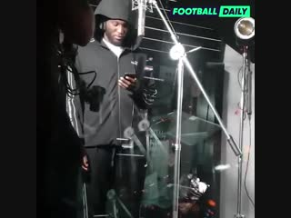 Lukaku in the booth