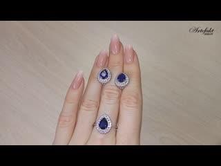 Обзор серебряного гарнитура artefakt jewelry арт 061