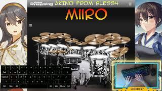 AKINO from bless4 - Miiro [VirtualDrumming Cover]