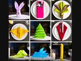 13 способов сложить салфетки на праздничный стол ! Супер лайфхак !