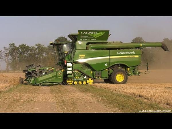 Roggen-Ernte 2018: John Deere S785i