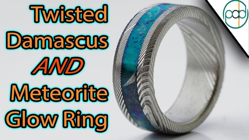 Making a Twisted Damascus and Meteorite Glow Ring