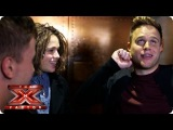 The Boys have a night out with Olly Murs & Robbie Williams - Live Week 4 - The Xtra Factor 2013