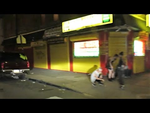 PHILADELPHIA'S KENSINGTON AVE / SKIDROW HOOD AT NIGHT