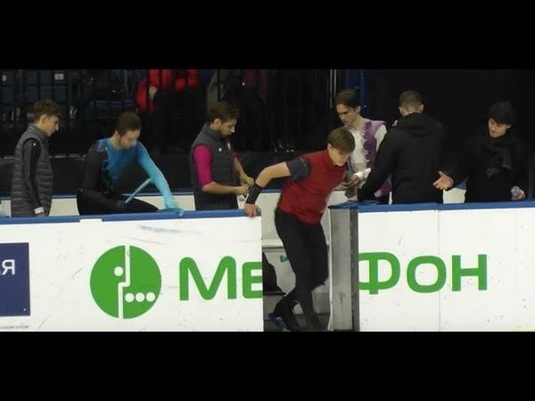 Minsk Ice Star 2018 6minute warm up men (Deniss Vasiljevs) fs