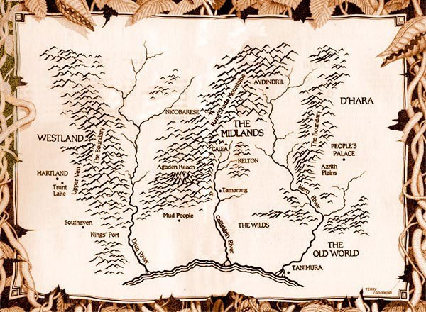 Карты фэнтези-миров