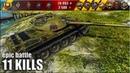 Т-54 обл. нагиб по жёсткому 🌟 медаль Колобанова, 11 фрагов 🌟 World of Tanks лучший бой на лт 9