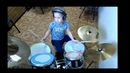 5 years old Mark playing Millenium MX Jr. Junior Drumset Episod 2