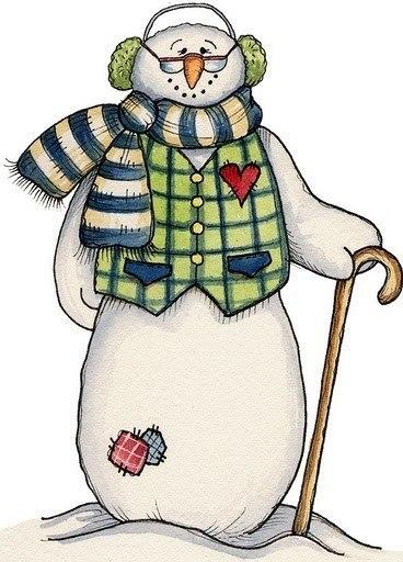 Снеговик - Снеговики - Картинки и фотографии - Картинки, трафареты, фотографии - ИDEЯ FIX.