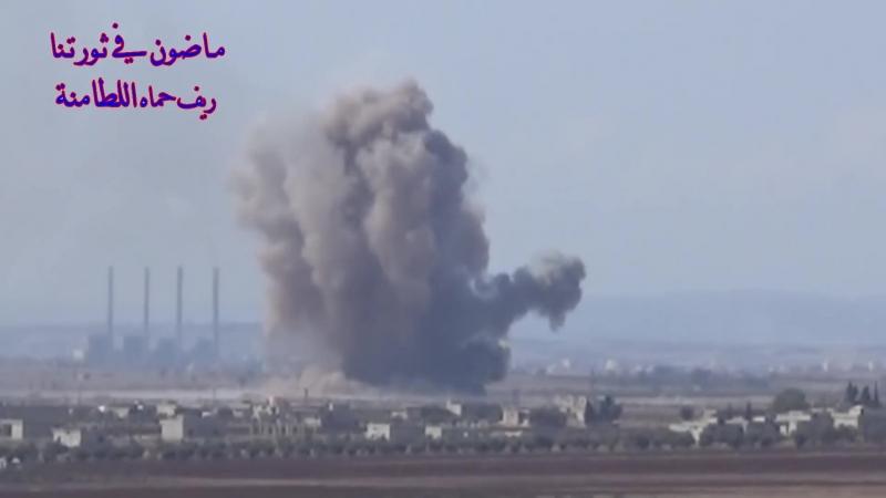 VIDEO- Syrian, Russian air force pummel Hama jihadists with heavy bombs