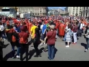 Массовые объятия болельщиков. Красная площадь #футбол