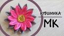 Как сделать цветок на заколку. Мастер-класс канзаши кувшинка из лент