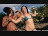 Annie Compares Muscles With Cheyenne Jewel