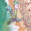 Художник Lucas Levitan добавляет рисунки к случайным фотографиям, меняя смысл фото