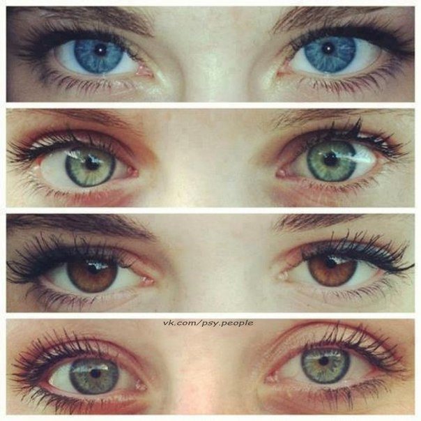 Характер по цвету глаз Одна из самых магических загадок на свете - связь между цветом глаз человека и его характером, даже судьбой. В самом деле, ну что общего между синими или зелеными крапинками наших очей и ходом всей жизни? Оказывается, достаточно много. А присмотревшись к цвету глаз, можно открыть для себя массу тайн или сделать любопытные открытия о собственной натуре. Хотите попробовать? Это увлекательная игра - гадание по глазам. Синие, голубые, серые Обладателям глаз холодного цвета -…