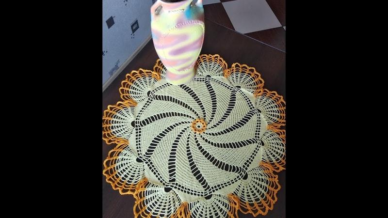 Салфетка крючком ч.1 схема/ Сrochet napkin p.1 pattern