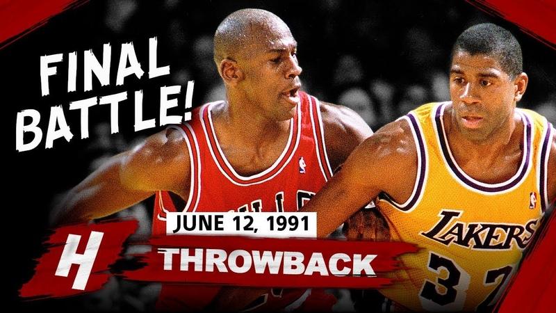 Magic Johnson vs Michael Jordan LEGENDARY Game 5 Duel Highlights (1991 NBA Finals) - FACE TO FACE!