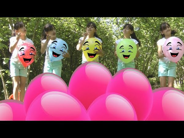 Kids Learn Colors With Colored balloons And Five little babies Jumping OnThe Bad Good Songs For Kids