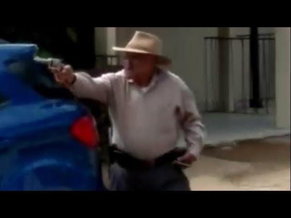 Assalto em Santana da Boa Vista. Véinho acha que já é segunda-feira e fincou fogo nos vagabundo