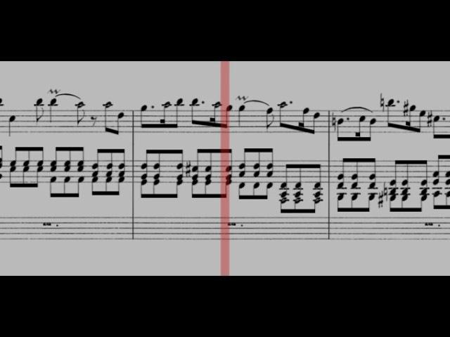 BWV 596 - Organ Concerto in D Minor (Scrolling)
